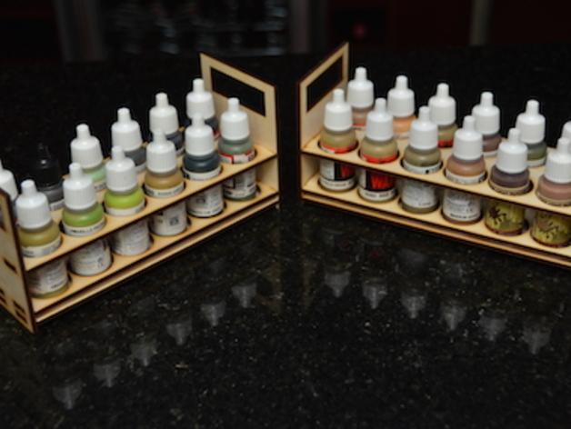 颜料托架 3D模型  图1