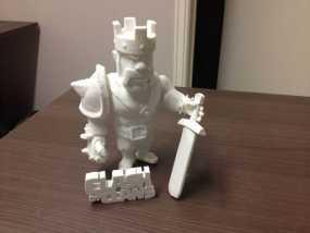 《部落战争》中蛮族首领 3D模型