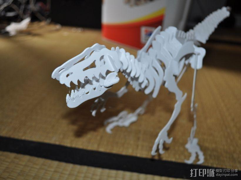 迅猛龙 3D模型  图1