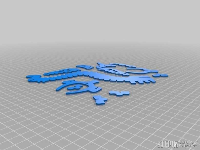 迅猛龙 3D模型  图6