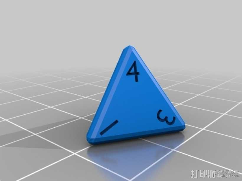 多面体骰子 3D模型  图1