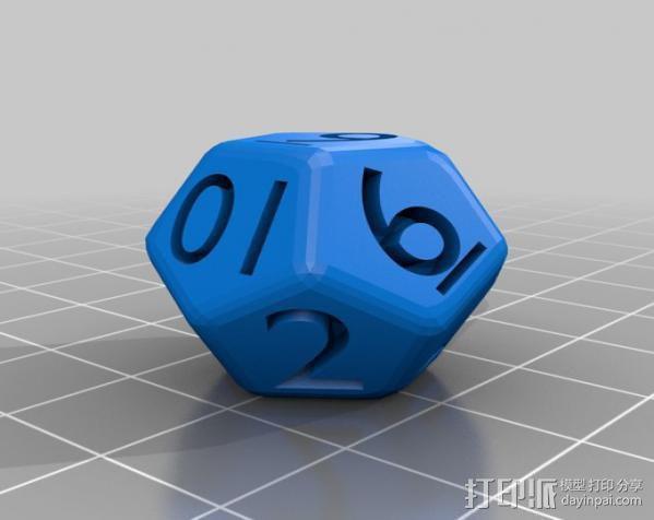多面体骰子 3D模型  图5