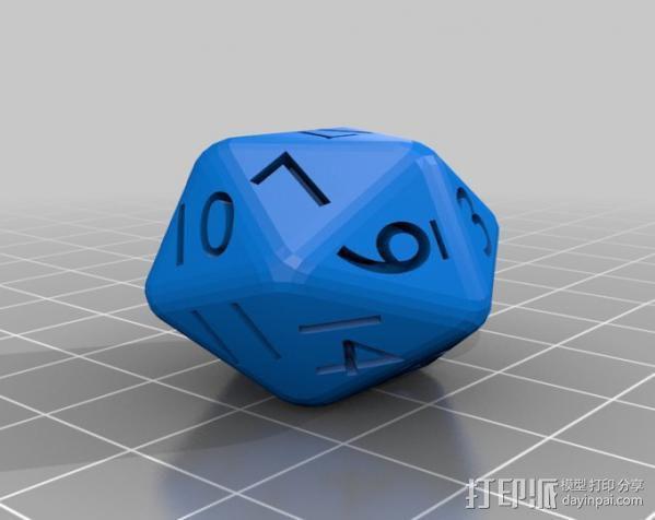 多面体骰子 3D模型  图6