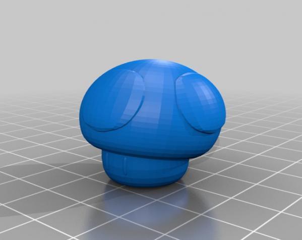 《超级玛丽》蘑菇 3D模型  图2