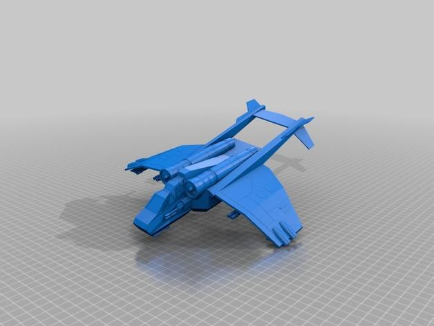 Valkyrja战舰 3D模型  图3