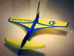 鸭翼滑翔机 3D模型