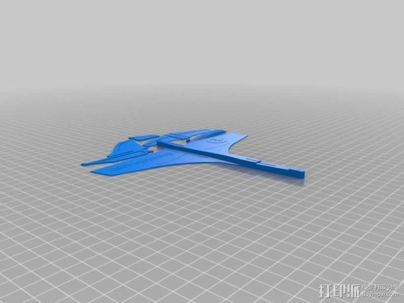 鸭翼滑翔机 3D模型  图2