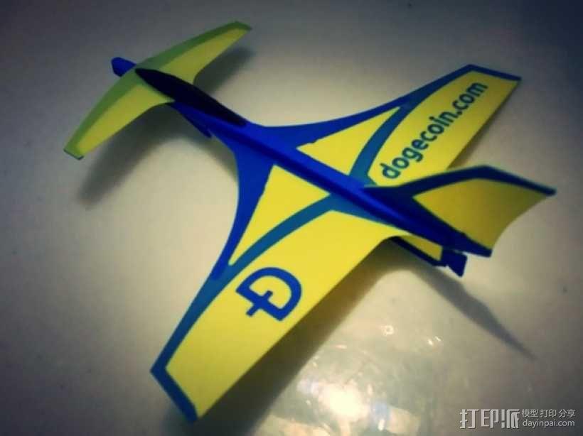 鸭翼滑翔机 3D模型  图3