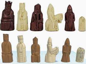 路易斯岛象棋 3D模型