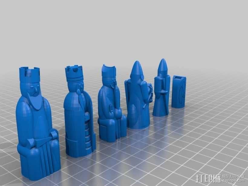 路易斯岛象棋 3D模型  图2