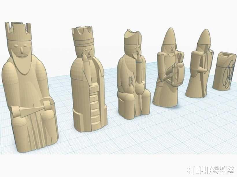 路易斯岛象棋 3D模型  图3