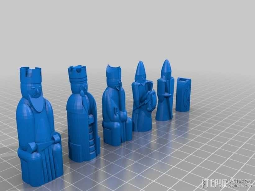 路易斯岛象棋 3D模型  图4