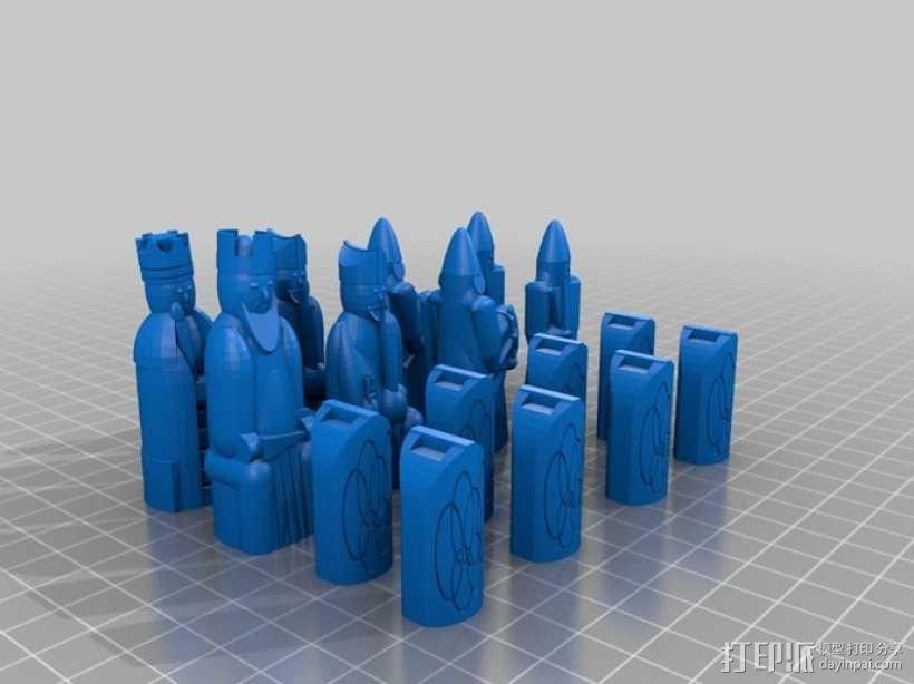 路易斯岛象棋 3D模型  图5