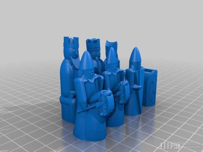 路易斯岛象棋 3D模型  图6