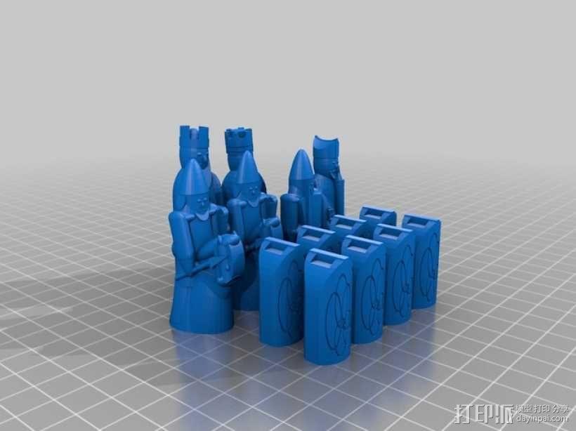 路易斯岛象棋 3D模型  图7