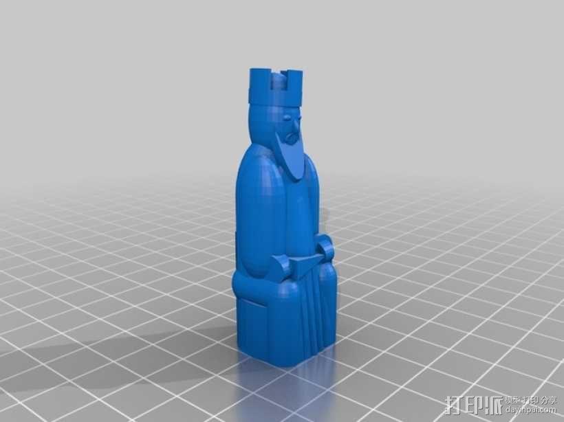 路易斯岛象棋 3D模型  图8