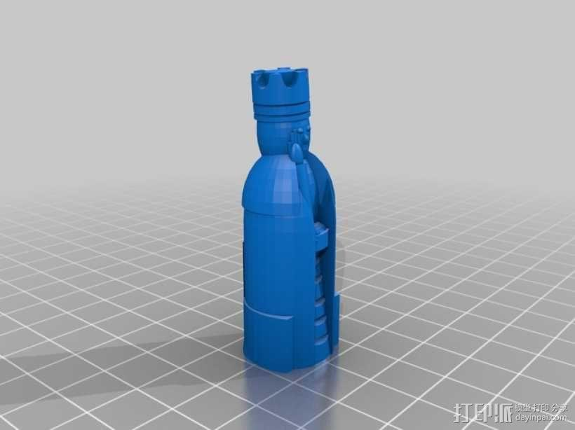 路易斯岛象棋 3D模型  图9
