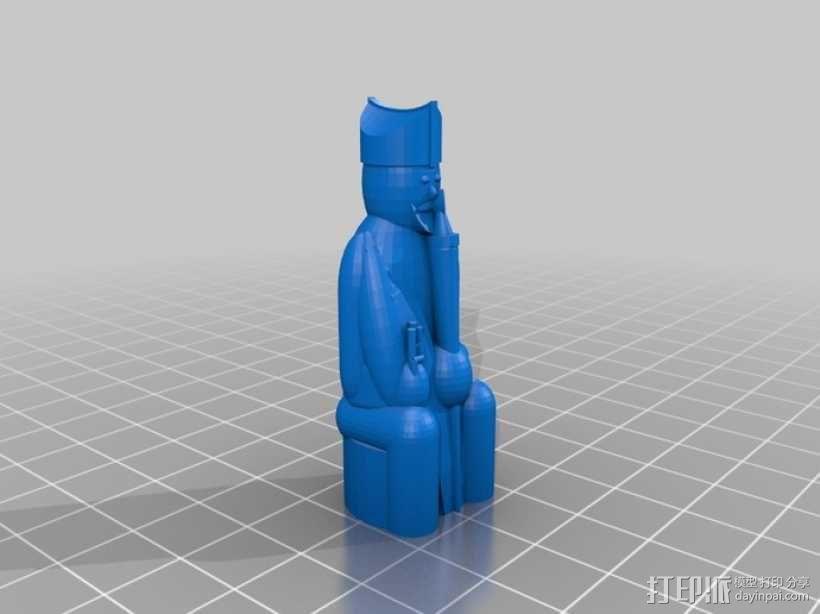 路易斯岛象棋 3D模型  图10