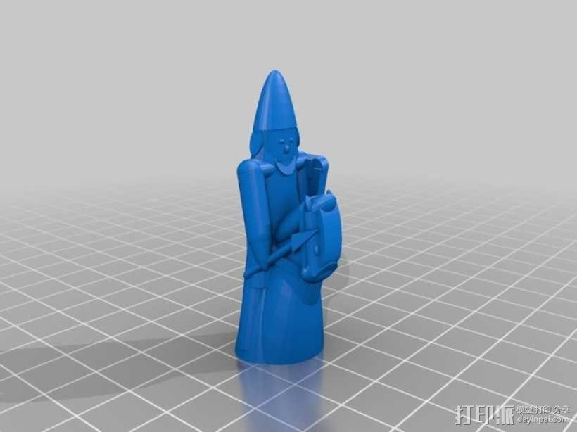路易斯岛象棋 3D模型  图14
