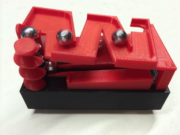 Z字形滚珠滑道 3D模型  图1
