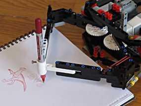EV3画图机器人笔座 3D模型
