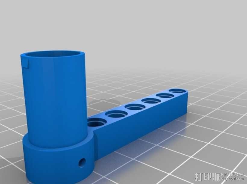 EV3画图机器人笔座 3D模型  图2