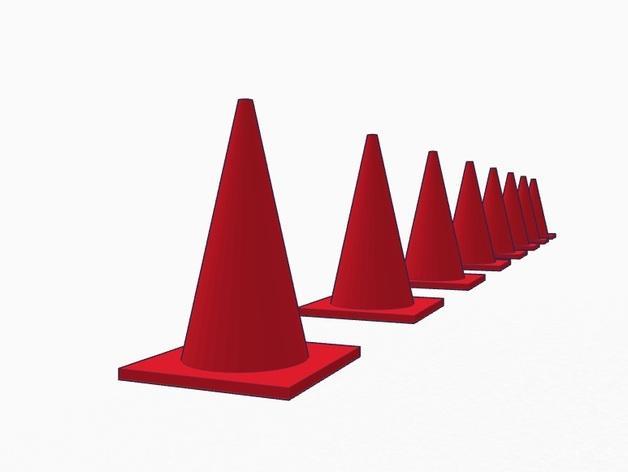 锥形交通路标 3D模型  图4