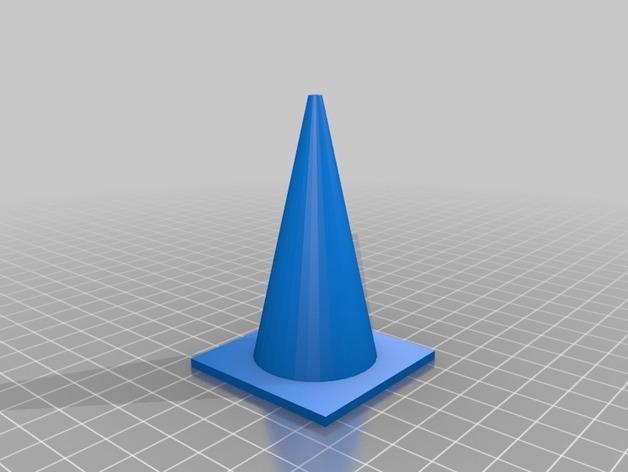 锥形交通路标 3D模型  图2