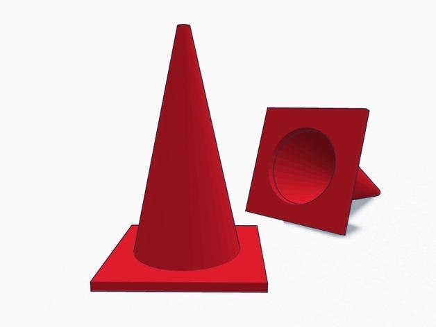 锥形交通路标 3D模型  图6