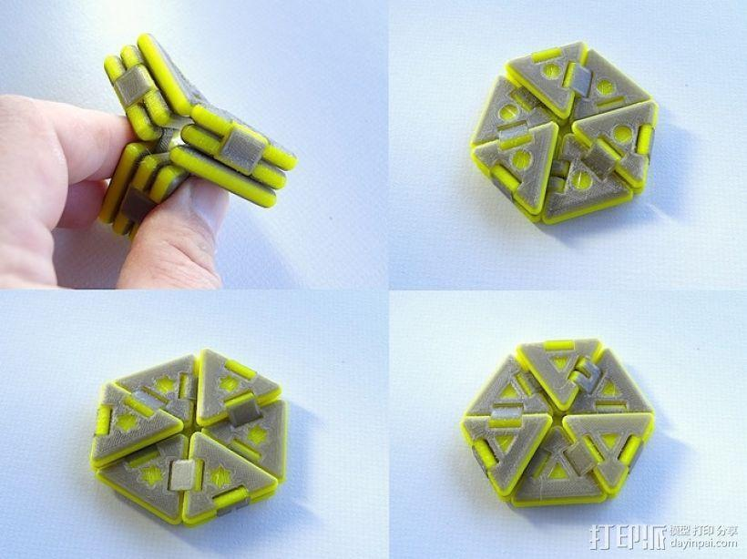 六边形折纸 3D模型  图1