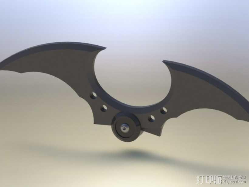 蝙蝠镖 3D模型  图1