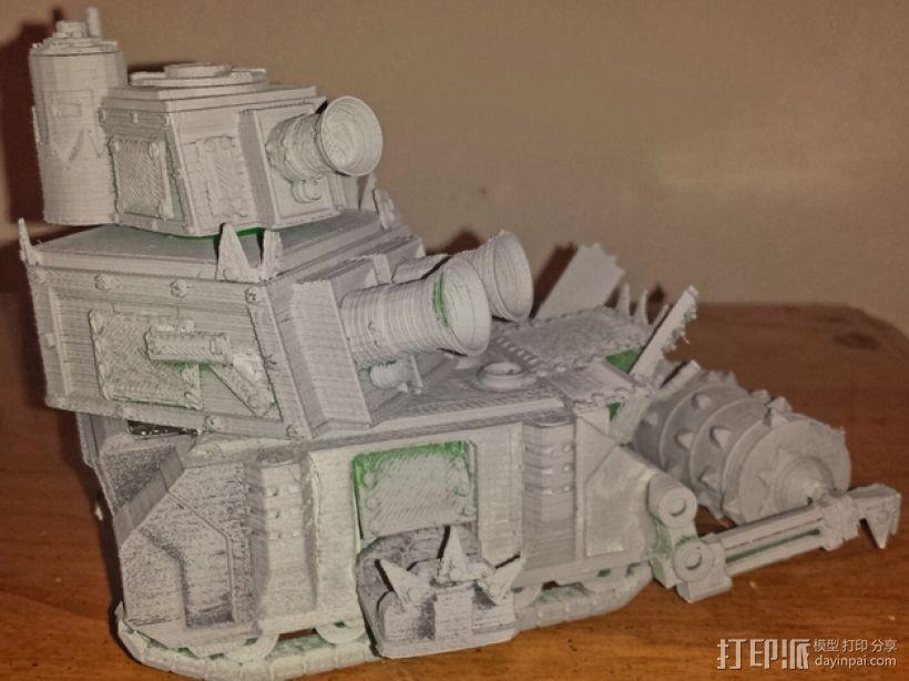 达卡炮塔 3D模型  图1