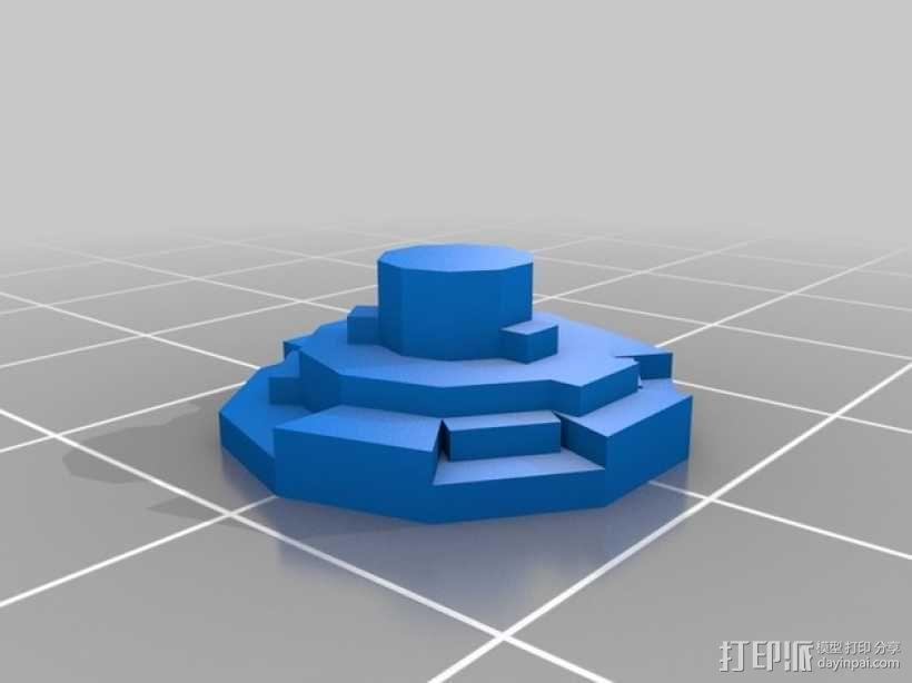 达卡炮塔 3D模型  图9