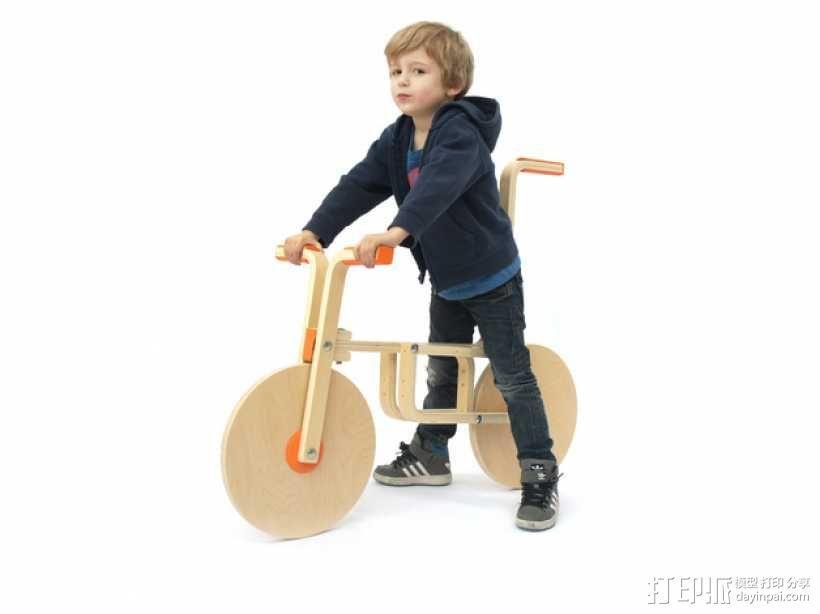 玩具自行车Draisienne 3D模型  图1