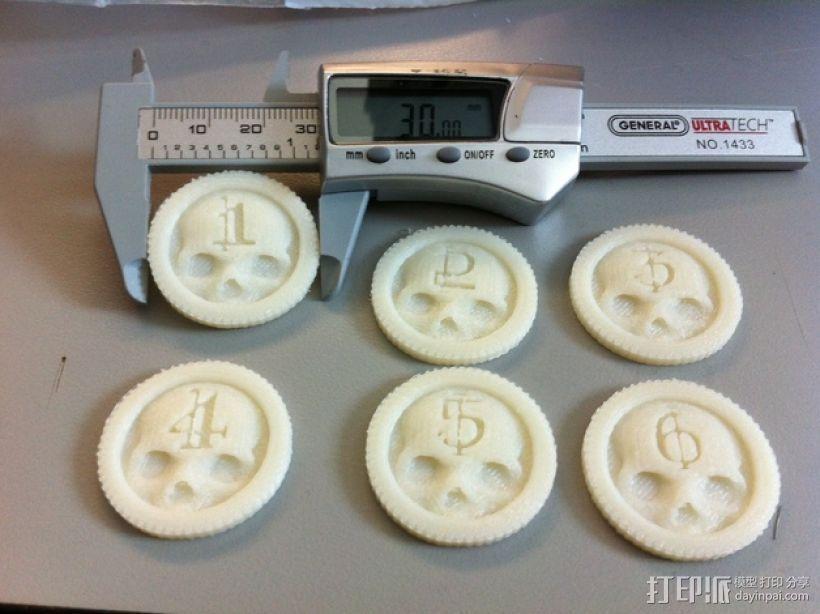 骷髅头计数器 3D模型  图1
