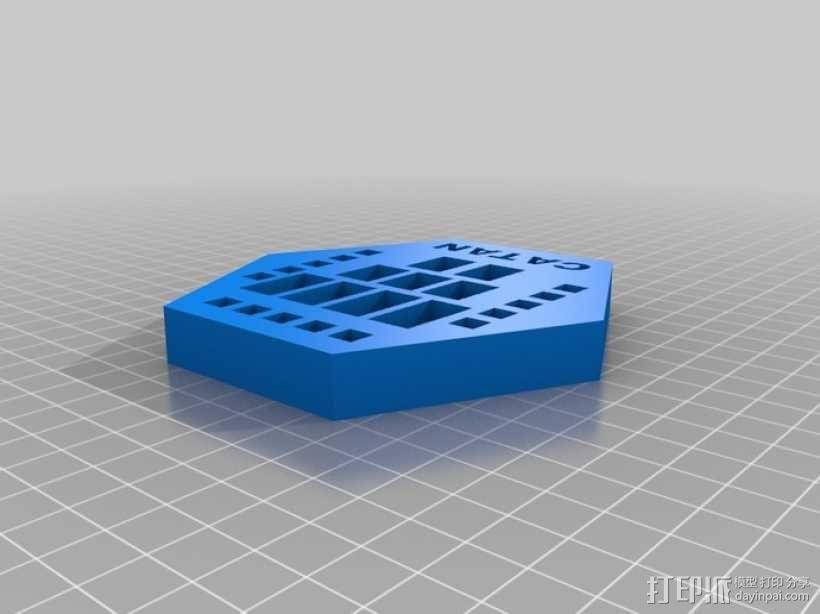 卡坦岛方块盒 3D模型  图1