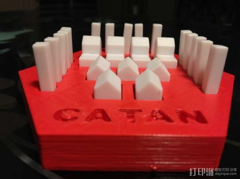 卡坦岛方块盒 3D模型  图2