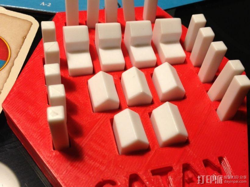 卡坦岛方块盒 3D模型  图3