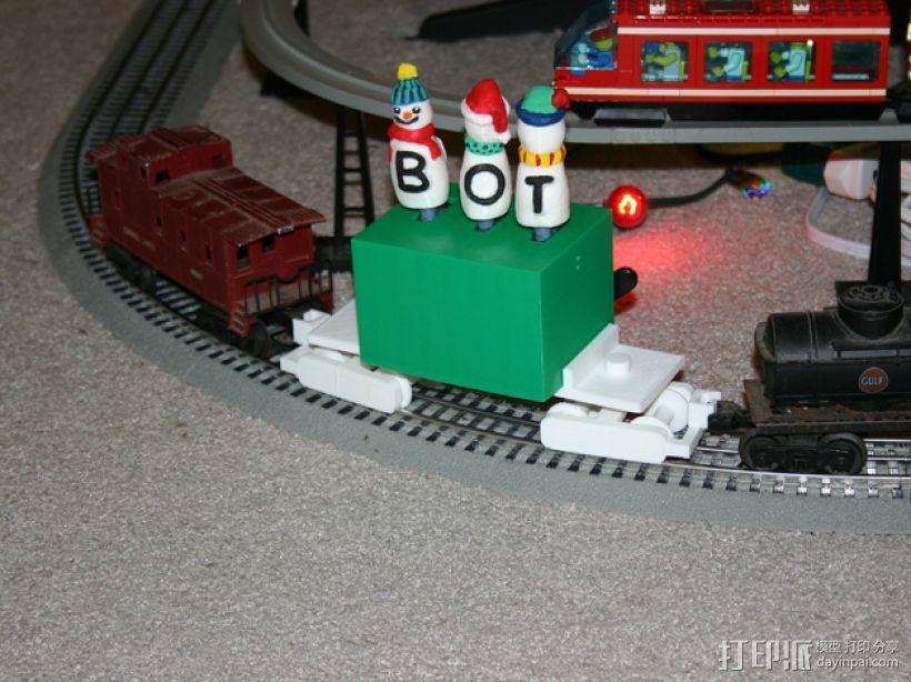 机动轨道车1 3D模型  图1