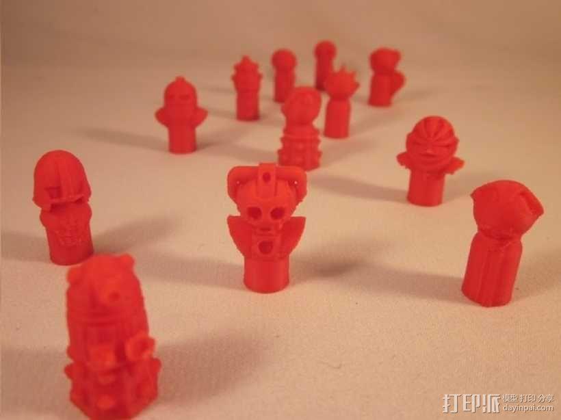 怪物棋子 3D模型  图1