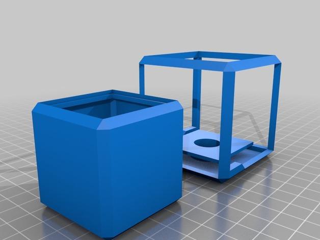 方形灯罩 3D模型  图2