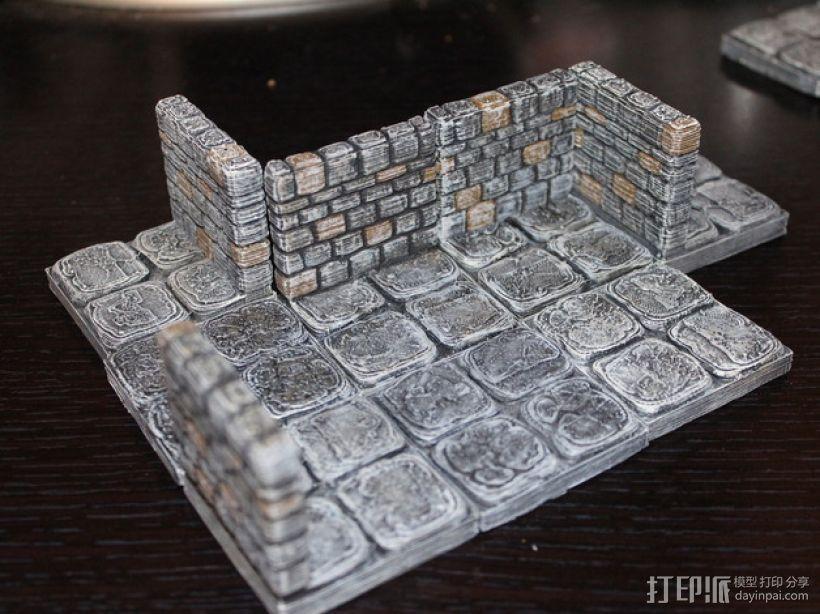迷你石墙 3D模型  图1