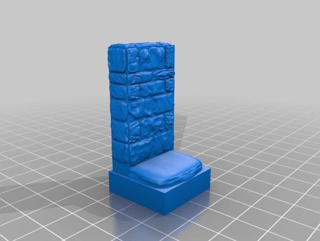 迷你石墙 3D模型  图2