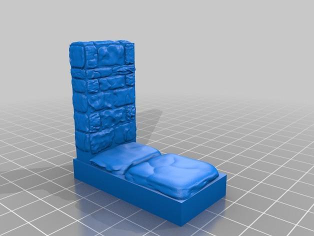 迷你石墙 3D模型  图4