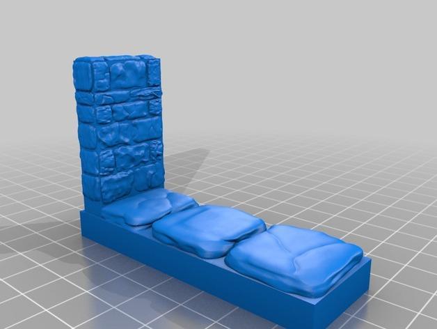 迷你石墙 3D模型  图5