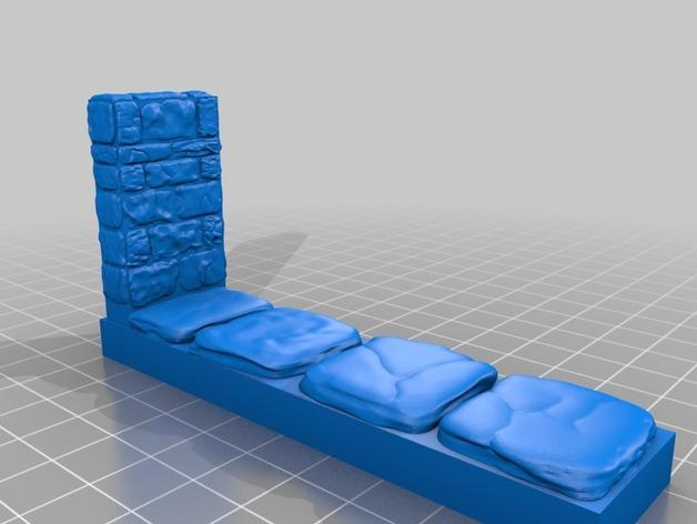 迷你石墙 3D模型  图6