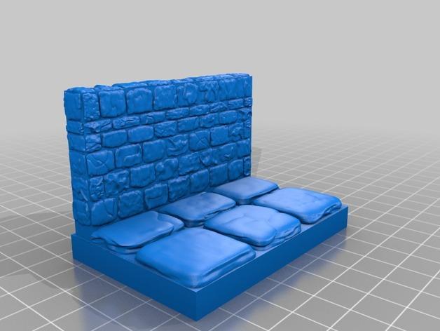 迷你石墙 3D模型  图8
