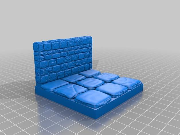 迷你石墙 3D模型  图9