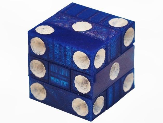 拼图骰子 3D模型  图1