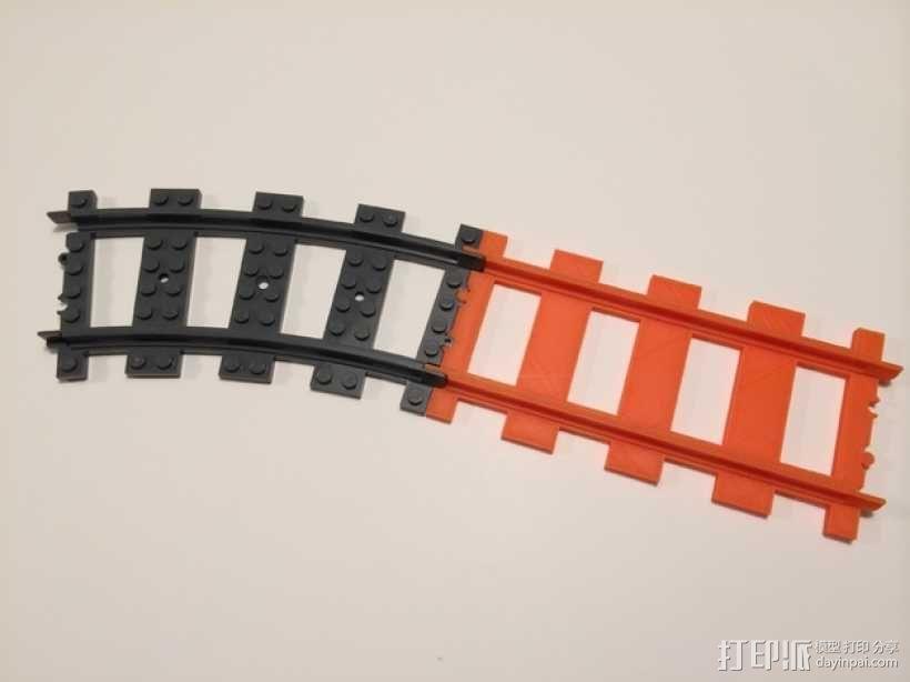 乐高火车车轨 3D模型  图3